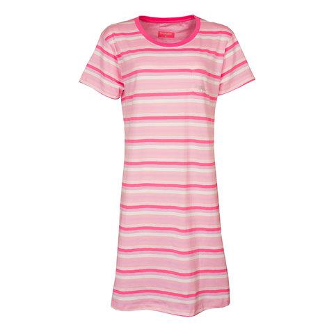 Irresistible  Dames  nachthemd slaapkleed  Roze gestreept IRNGD1905A