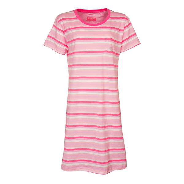 Irresistible Irresistible  Dames  nachthemd slaapkleed  Roze gestreept IRNGD1905A