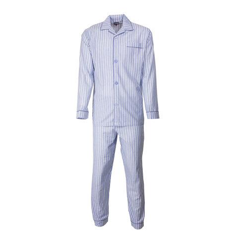 Paul Hopkins Heren pyjama doorknoop strepen licht blauw ziekenhuis  PHPYH2612A