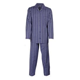 Paul Hopkins Paul Hopkins Heren pyjama doorknoop strepen  blauw ziekenhuis  PHPYH2711A