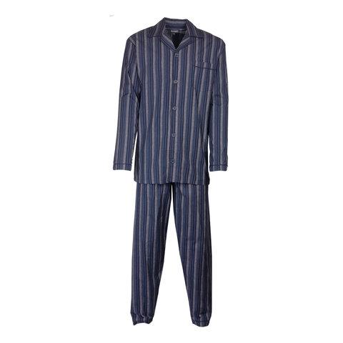 Paul Hopkins Heren pyjama doorknoop strepen  blauw ziekenhuis  PHPYH2712A