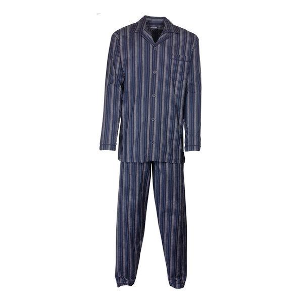 Paul Hopkins Paul Hopkins Heren pyjama doorknoop strepen  blauw ziekenhuis  PHPYH2712A