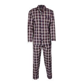 Paul Hopkins Paul Hopkins Heren pyjama doorknoop ruiten blauw-rood ziekenhuis  PHPYH2718A