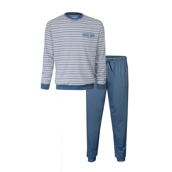 Paul Hopkins Paul Hopkins Heren Pyjama Licht Blauw strepen PHPYH1903A