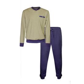 Paul Hopkins Paul Hopkins Heren Pyjama Indigo Blauw geprint dessin PHPYH1905A