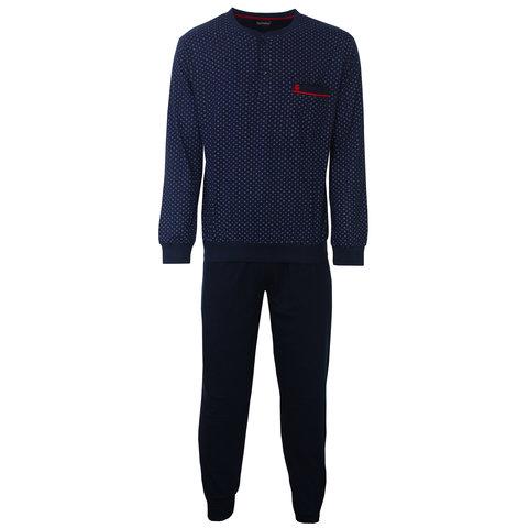 Paul Hopkins Heren Pyjama Donker Blauw PHPYH2801A