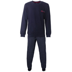 Paul Hopkins Paul Hopkins Heren Pyjama Navy Blauw geprint dessin PHPYH2806A