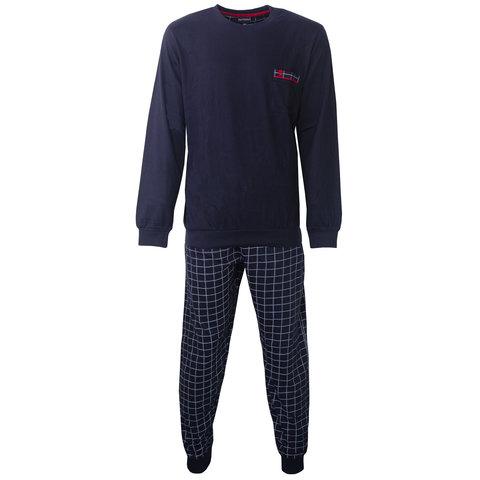 Paul Hopkins Heren Pyjama Navy Blauw geprint dessin PHPYH2806A