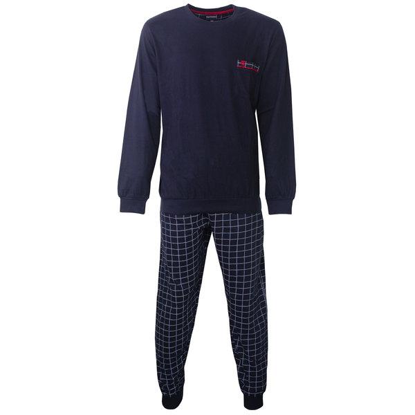 Paul Hopkins Paul Hopkins Heren Pyjama Navy Blauw geprint dessin PHPYH2806A