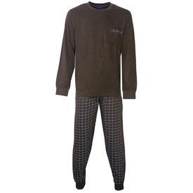 Paul Hopkins Paul Hopkins Heren Pyjama Bruin geprint dessin PHPYH2806B