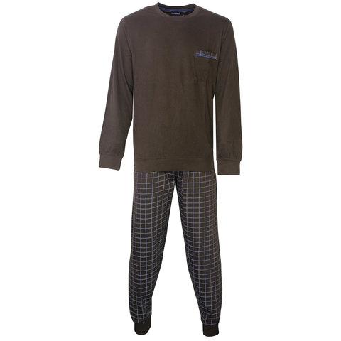 Paul Hopkins Heren Pyjama Bruin geprint dessin PHPYH2806B