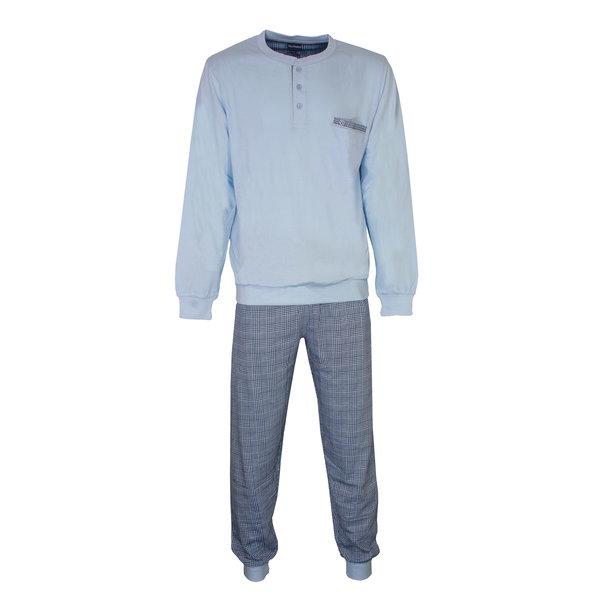Paul Hopkins Paul Hopkins Heren Pyjama Licht Blauw geprint ruit dessin PHPYH2809A