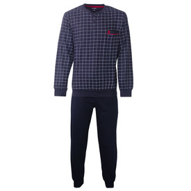 Paul Hopkins Paul Hopkins Heren Pyjama Donker Blauw geprint ruit dessin PHPYH2805A