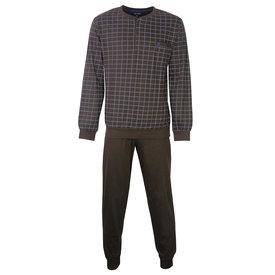 Paul Hopkins Paul Hopkins Heren Pyjama Bruin geprint ruit dessin PHPYH2805B