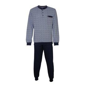 Paul Hopkins Paul Hopkins Heren Pyjama Blauw geprint ruit dessin PHPYH2808A