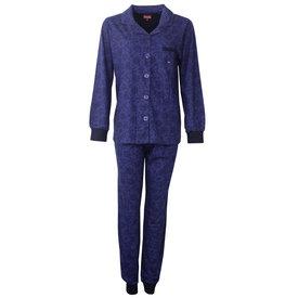 Medaillon Medaillon Dames Pyjama doorknoop ziekenhuis  Blauw  MEPYD2801A