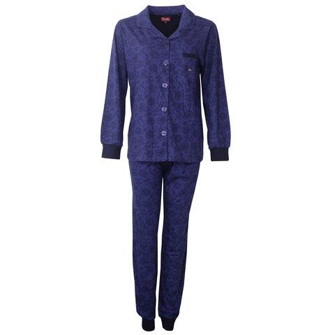 Medaillon Dames Pyjama doorknoop ziekenhuis  Blauw  MEPYD2801A