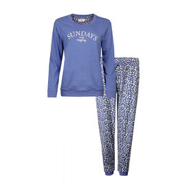 Irresistible Irresistible Dames Pyjama Blauw Bloemetjes  IRPYD1901A