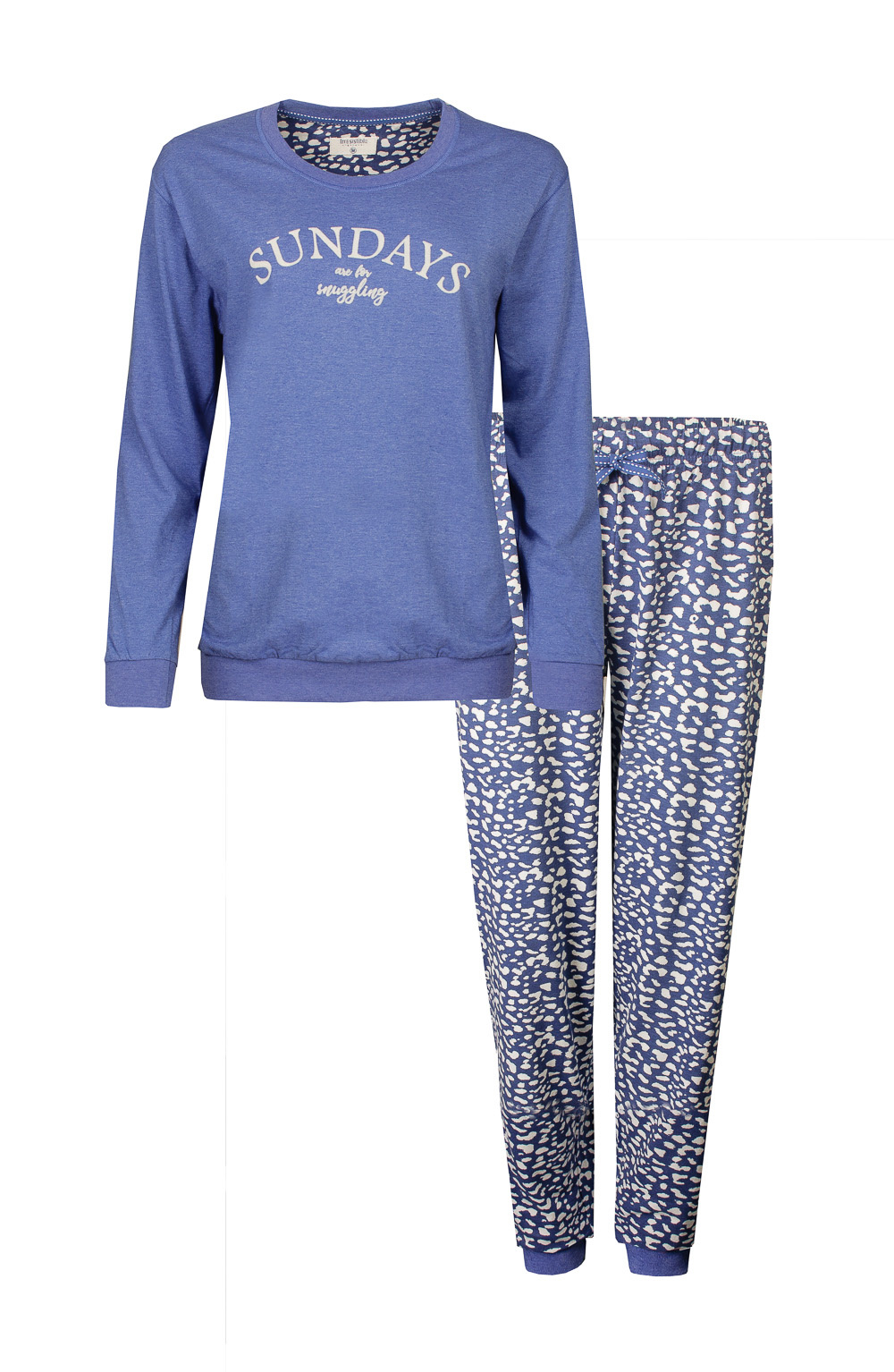 Irresistible Dames Pyjama Blauw Bloemetjes IRPYD1901A