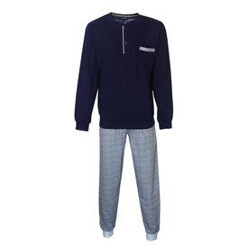 Paul Hopkins Paul Hopkins Heren Pyjama Donker Blauw geprint ruit dessin PHPYH2809B
