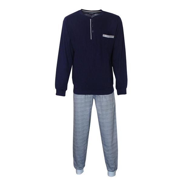 Paul Hopkins Paul Hopkins Donker Blauw Geblokt dessin Heren Pyjama PHPYH2809B