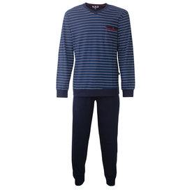 M.E.Q M.E.Q. Heren pyjama donker blauw streep MEPYH2803A