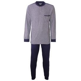 M.E.Q M.E.Q. Heren pyjama fijn streep dessin blauw  MEPYH2805A