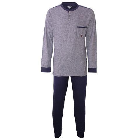 M.E.Q. Heren pyjama fijn streep dessin blauw  MEPYH2805A