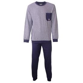 M.E.Q M.E.Q. Heren pyjama fijn streep dessin blauw  MEPYH2806A