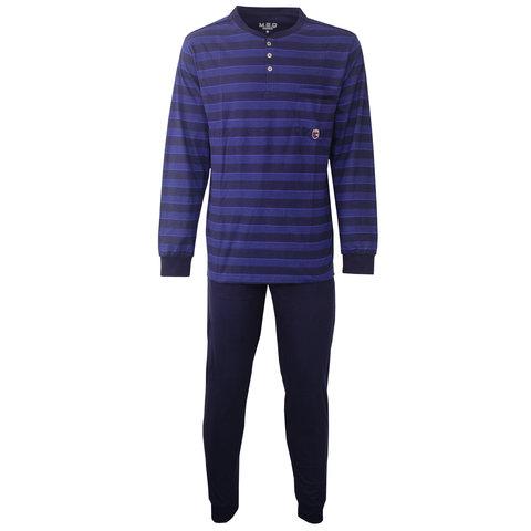 M.E.Q. Heren pyjama streep dessin blauw  MEPYH2807A