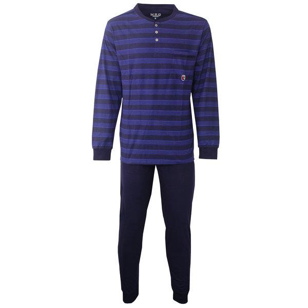 M.E.Q M.E.Q. Heren pyjama streep dessin blauw  MEPYH2807A