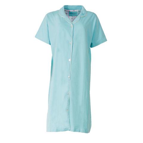 Medaillon Dames ziekenhuis doorknoop Nachthemd Blauw-Groen MENGD1404C