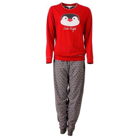 Tenderness Dames Pyjama Rood  - TEPYD2504A