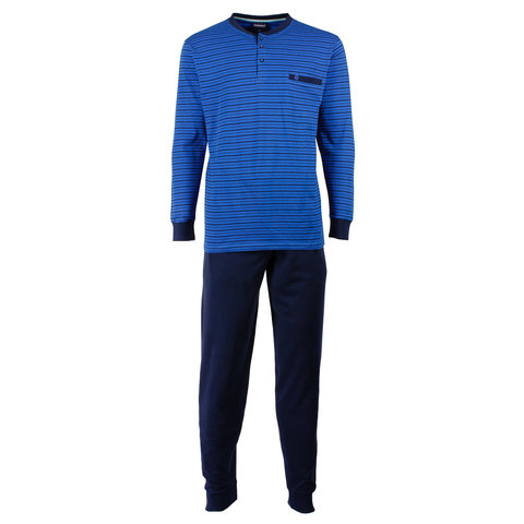 Paul Hopkins Heren Pyjama Blauw strepen dessin PHPYH1611B
