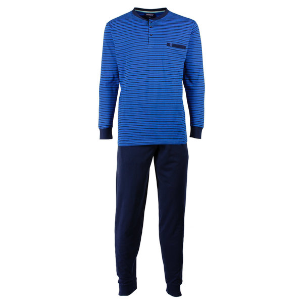 Paul Hopkins Paul Hopkins Heren Pyjama Blauw strepen dessin PHPYH1611B