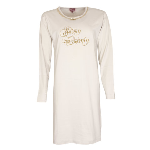Medaillon Dames Nachthemd Beige NGD31047B