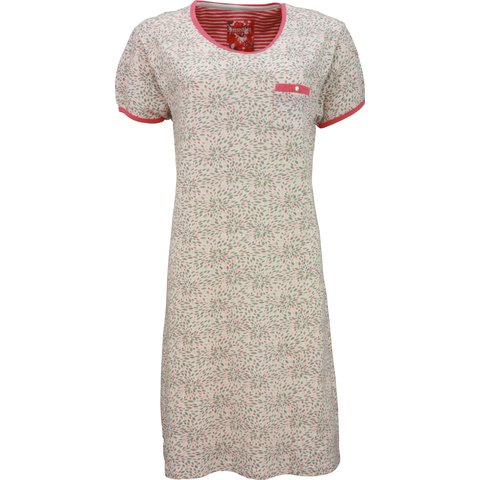 Irresistible Dames Nachthemd Rood Bloem