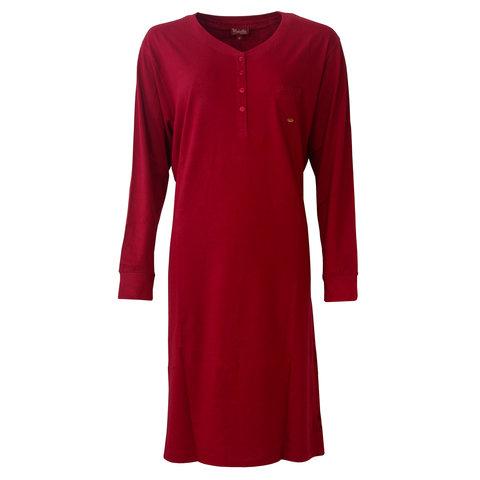 Medaillon dames nachthemd  Rood MENGD2802B