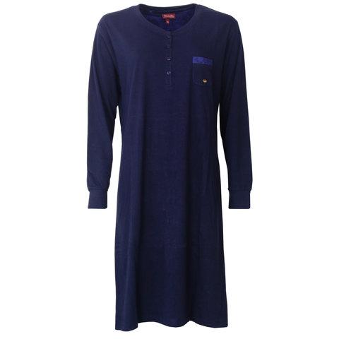 Medaillon dames nachthemd  Blauw MENGD2802A
