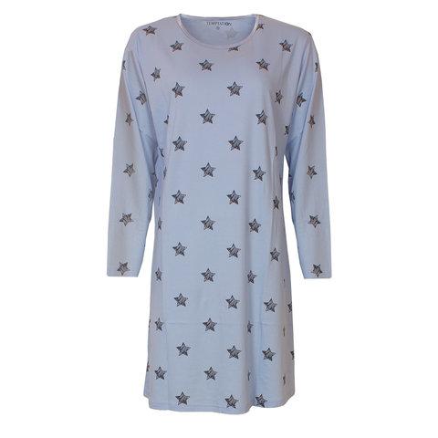 Temptation  Dames Bigshirt nachthemd slaapkleed Licht Blauw TPNGD2812A