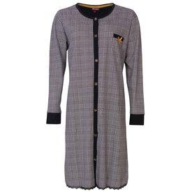 Medaillon Medaillon dames doorknoop nachthemd  Zwart MENGD2803A