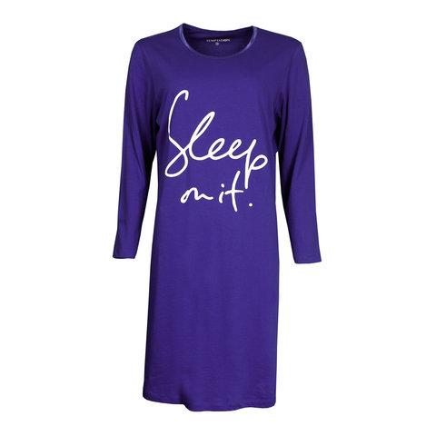 Temptation  Dames Bigshirt nachthemd slaapkleed Blauw TPNGD2902C