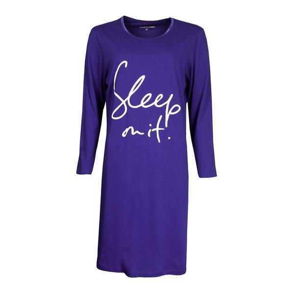 Temptation Temptation  Dames Bigshirt nachthemd slaapkleed Blauw TPNGD2902C