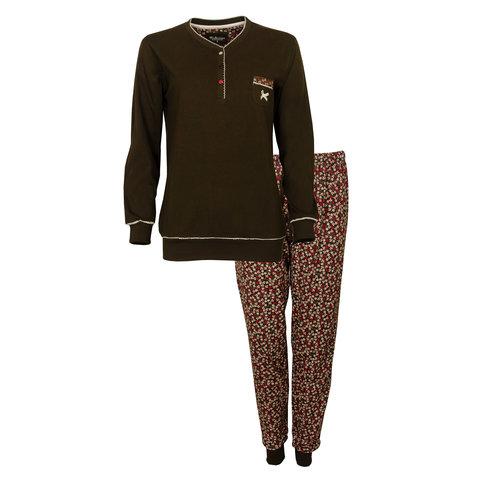 Tenderness Dames Pyjama Bruin TEPYD2902A