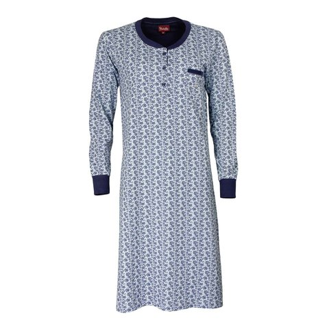 Medaillon dames nachthemd Blauw MENGD2903A