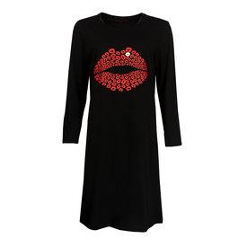 Temptation Temptation  Dames Bigshirt nachthemd slaapkleed Zwart TPNGD2901A