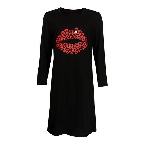 Temptation  Dames Bigshirt nachthemd slaapkleed Zwart TPNGD2901A