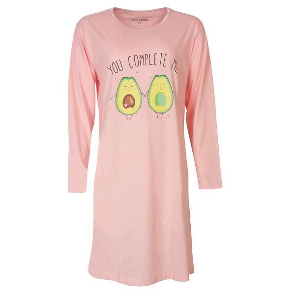 Temptation Temptation  Dames Bigshirt nachthemd slaapkleed Roze TPNGD2818A