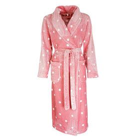 Irresistible Irresistible Badjas Roze met witte stippen IRBRD2002B