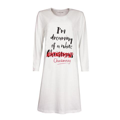 Temptation  Dames Bigshirt nachthemd Wit TPNGD2917A